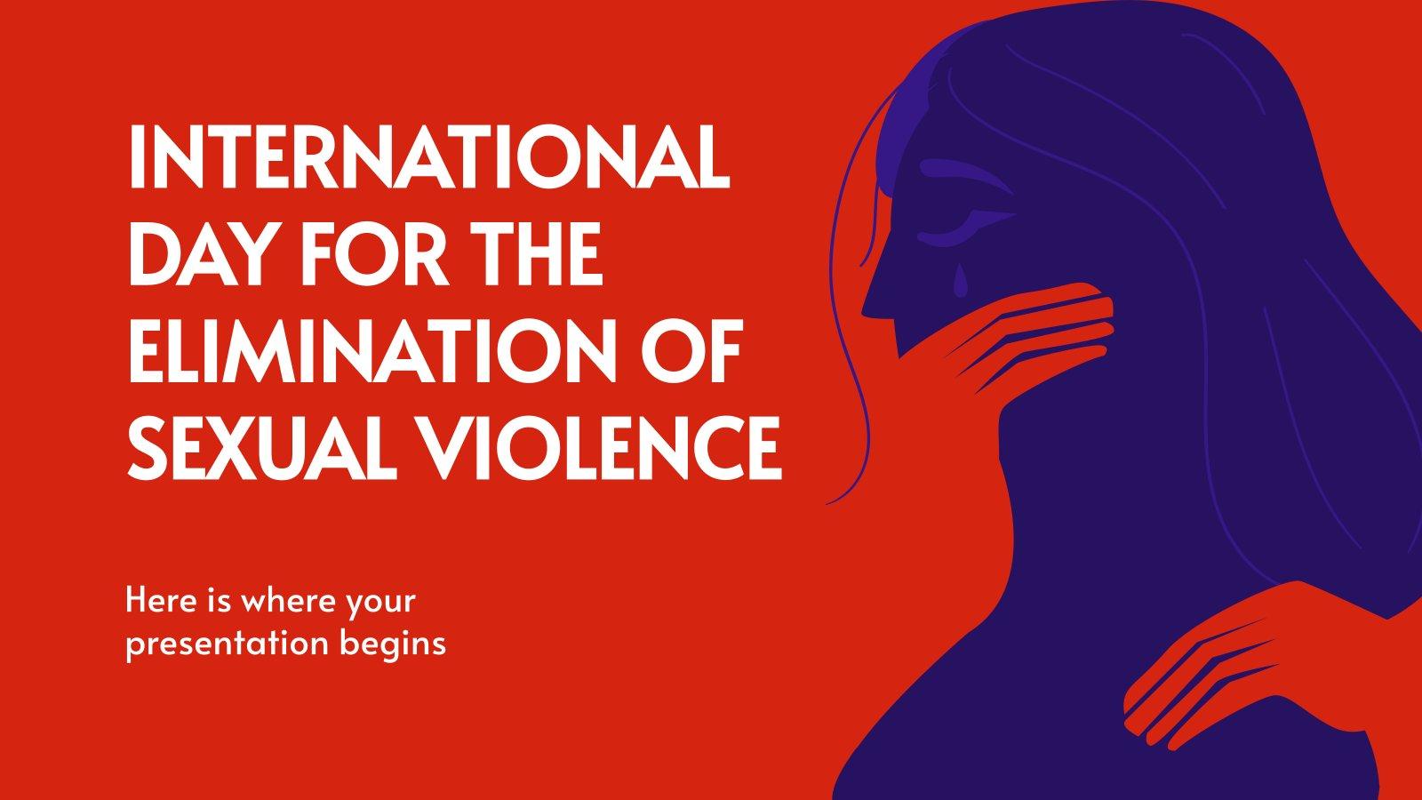 Plantilla de presentación Día Internacional para la Eliminación de la Violencia Sexual