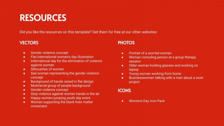 Modelo de apresentação Dia Internacional para a Eliminação da Violência Contra as Mulheres
