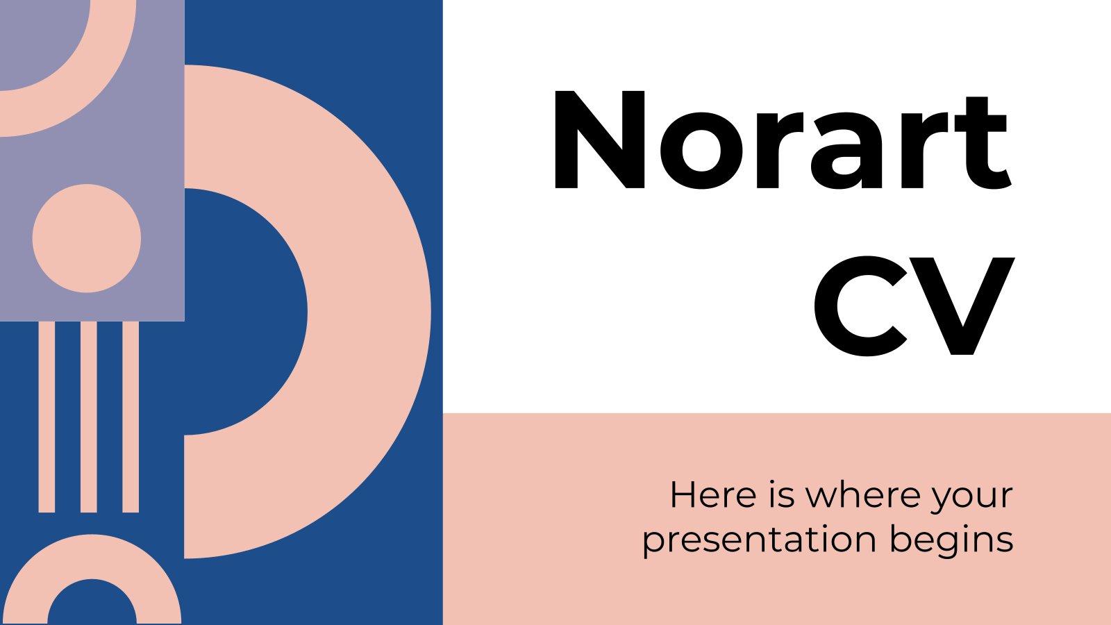 Modelo de apresentação CV Norart