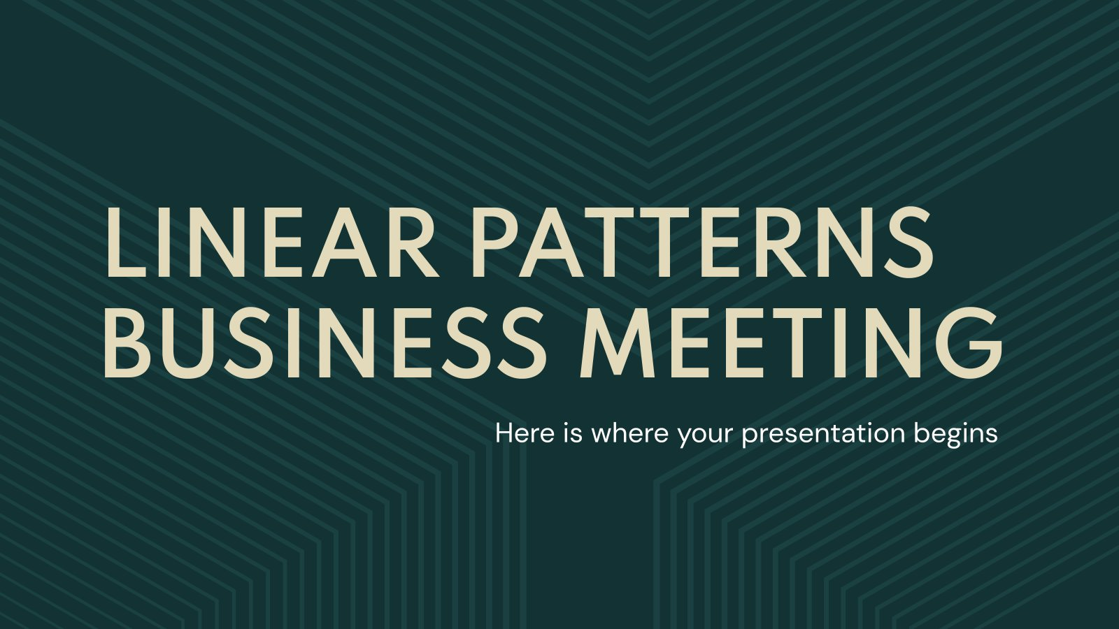 Linear Patterns Business Meeting presentation template