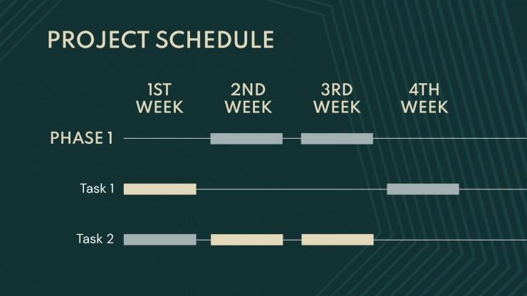 Plantilla de presentación Reunión de negocios formas lineales