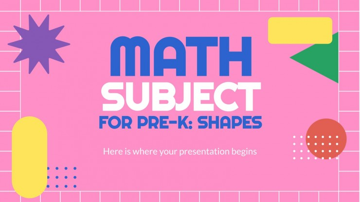 Mathe für Vorschulkinder: Formen Präsentationsvorlage