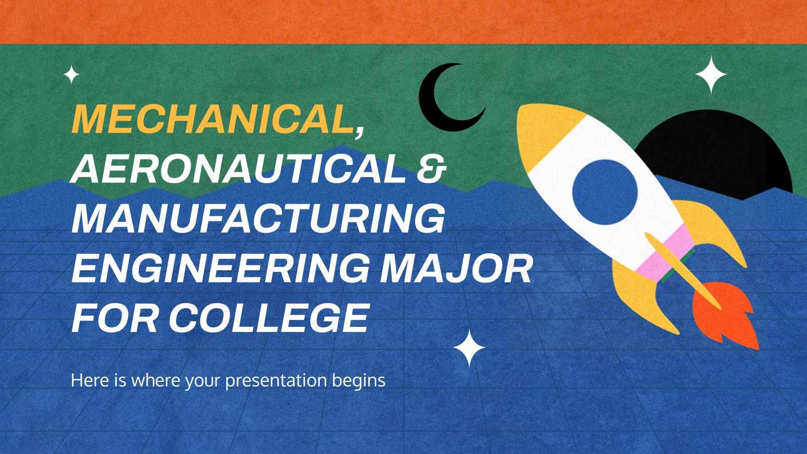 Mechanical, Aeronautical & Manufacturing Engineering Major for College presentation template