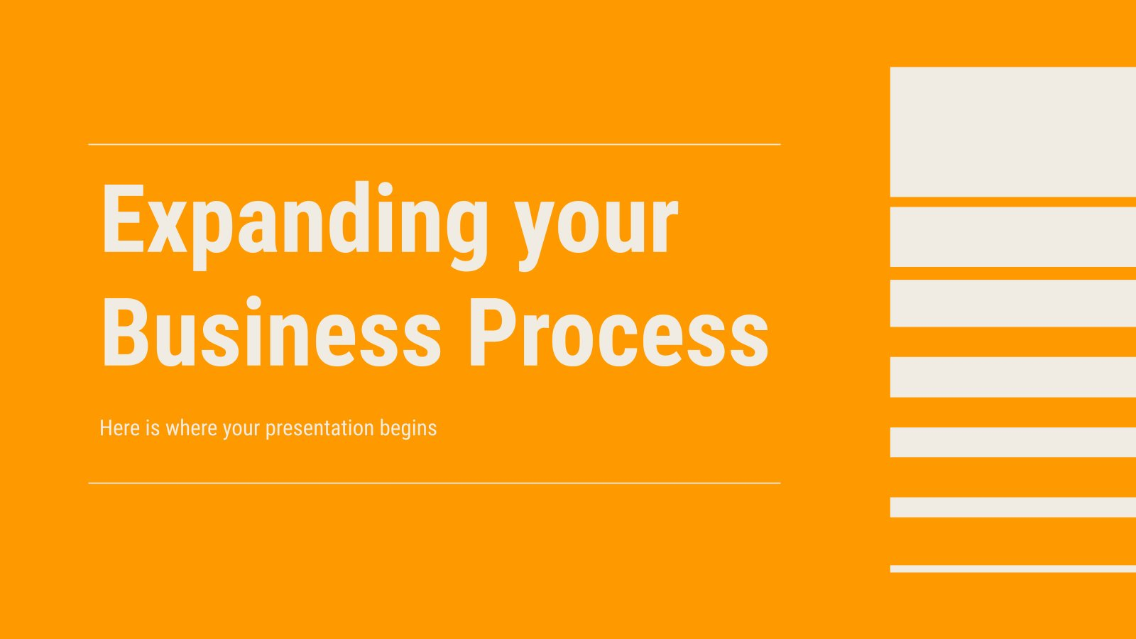 Expanding your Business Process presentation template