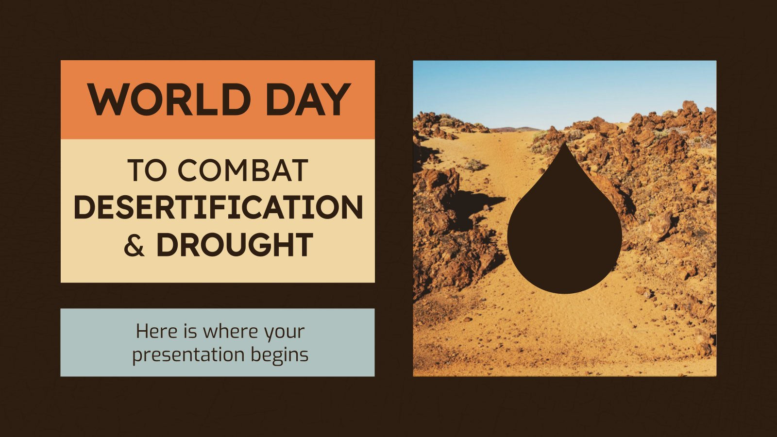 World Day to Combat Desertification presentation template