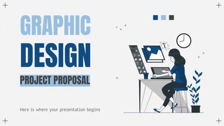 Plantilla de presentación Proyecto de diseño gráfico