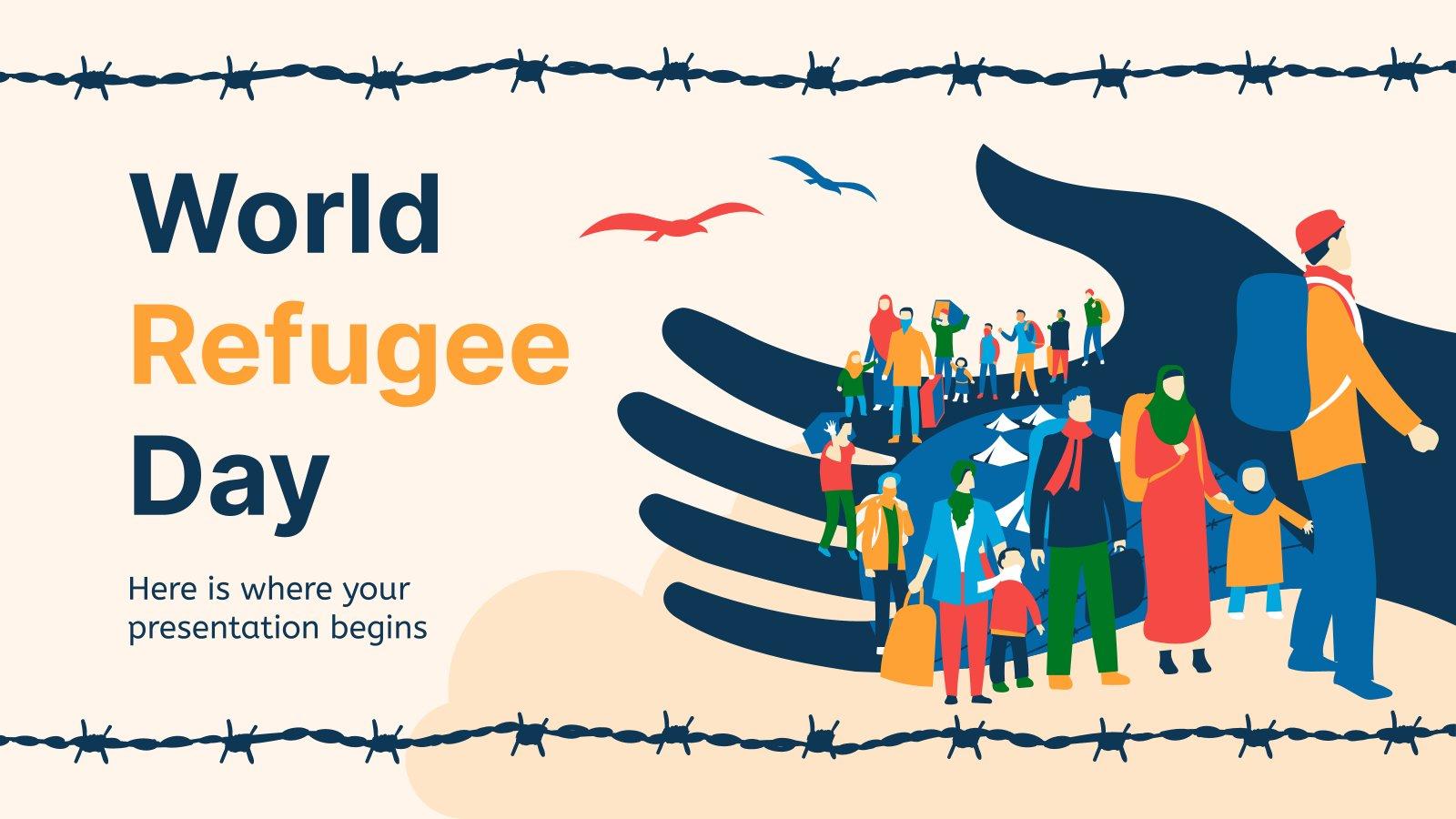 Plantilla de presentación Día Mundial del Refugiado