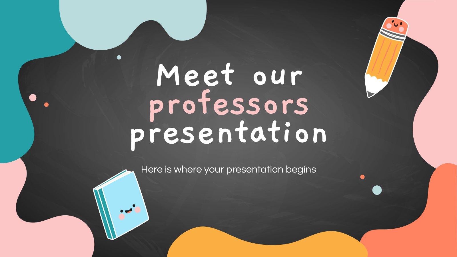 Découvrez nos enseignants : Modèles de présentation