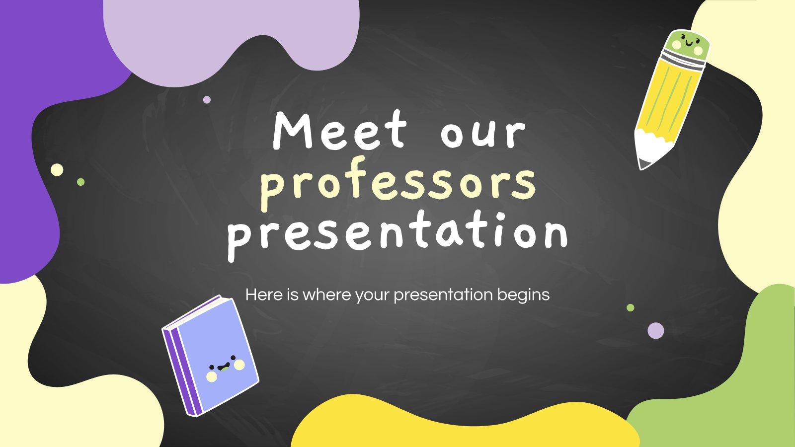Lerne unsere Professoren kennen Präsentationsvorlage
