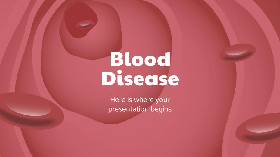 Blood Disease presentation template