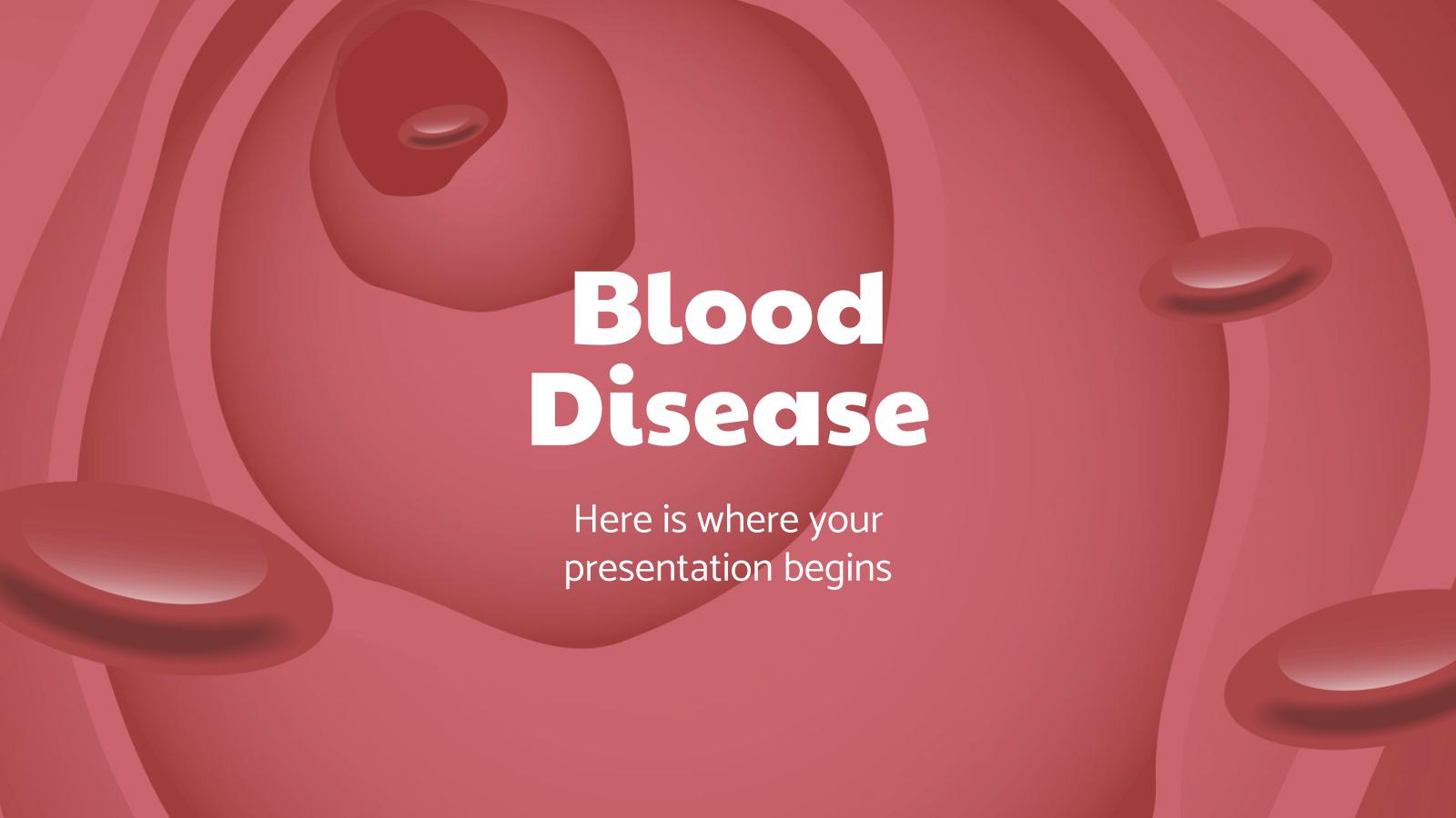Plantilla de presentación Enfermedad hematológica