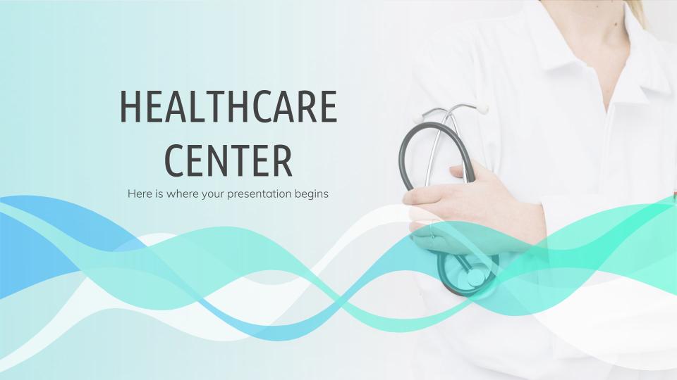 Modelo de apresentação Centro de saúde