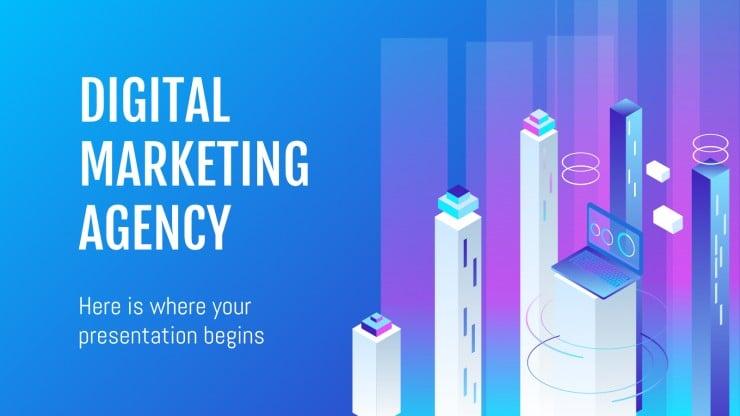 Modelo de apresentação Agência de marketing digital