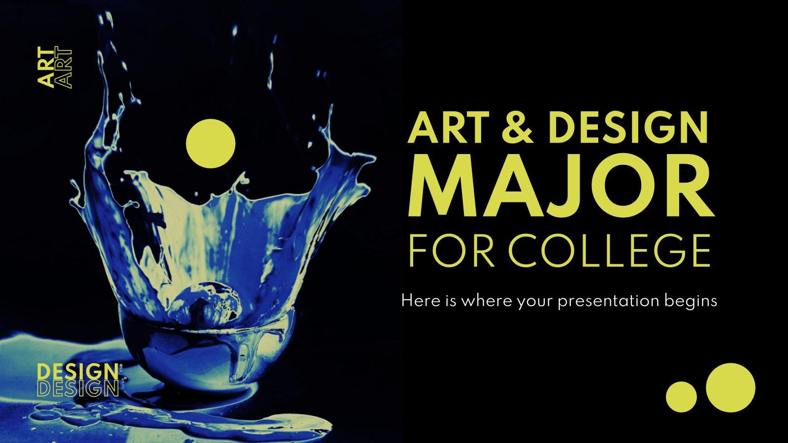 Art & Design Major for College presentation template