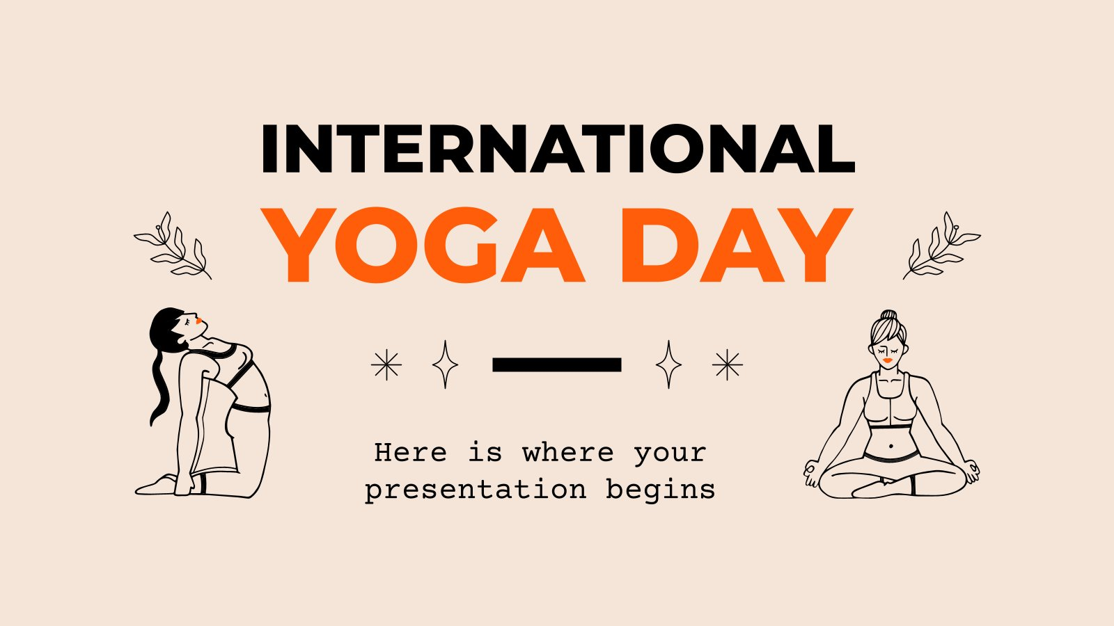 International Yoga Day presentation template