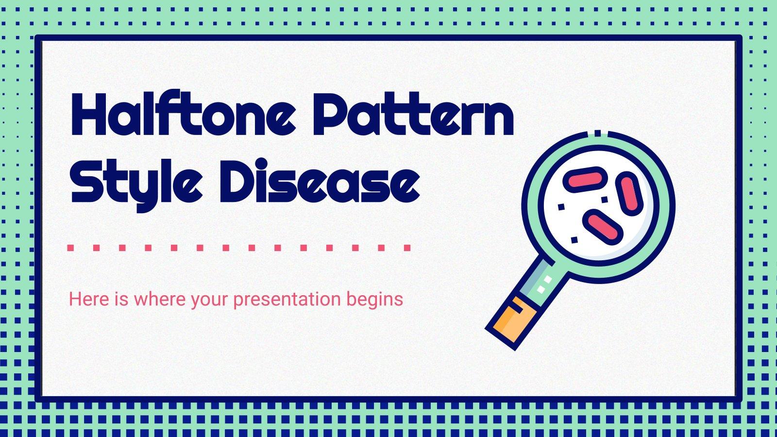 Plantilla de presentación Diapositivas médicas con patrones de semitono