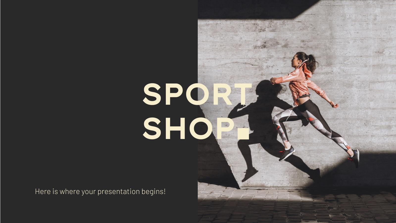 Modelo de apresentação Loja de equipamentos esportivos