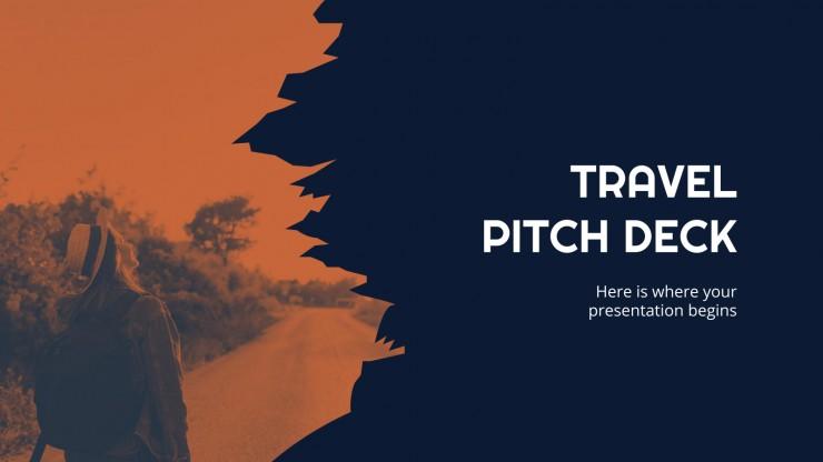 Plantilla de presentación Pitch deck para agencia de viajes