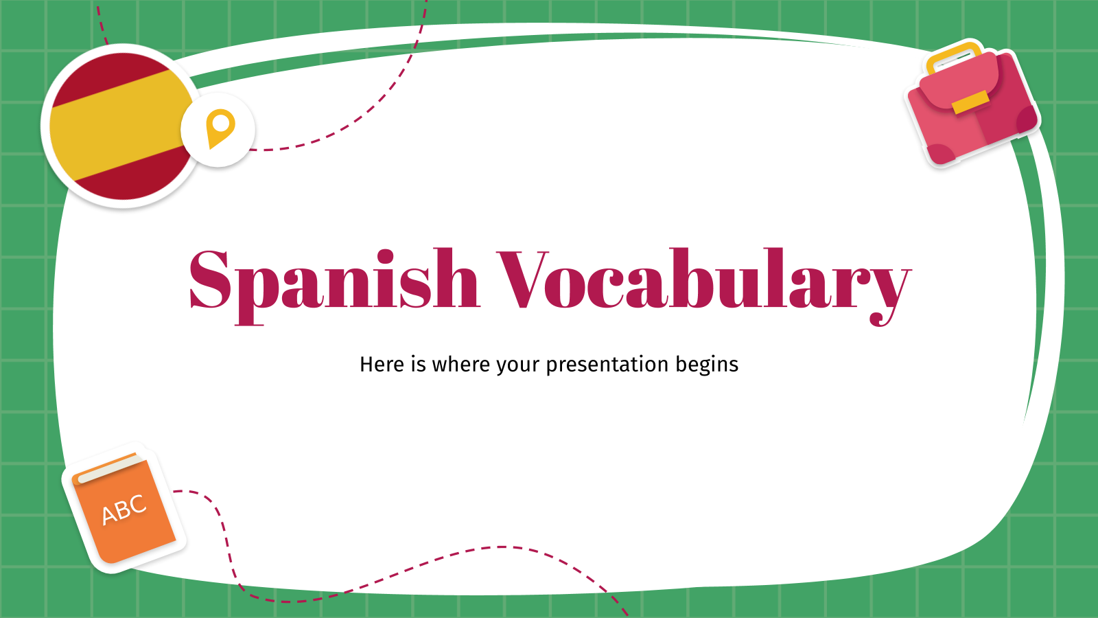 Spanish Vocabulary Workshop presentation template