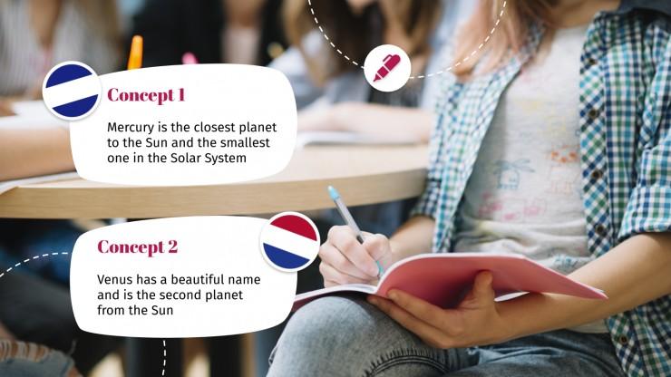 Atelier sur le vocabulaire espagnol : Modèles de présentation