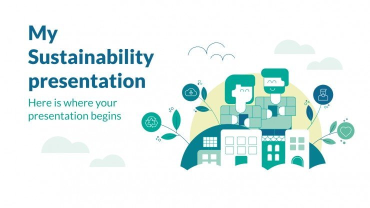 Sustainability strategy presentation template