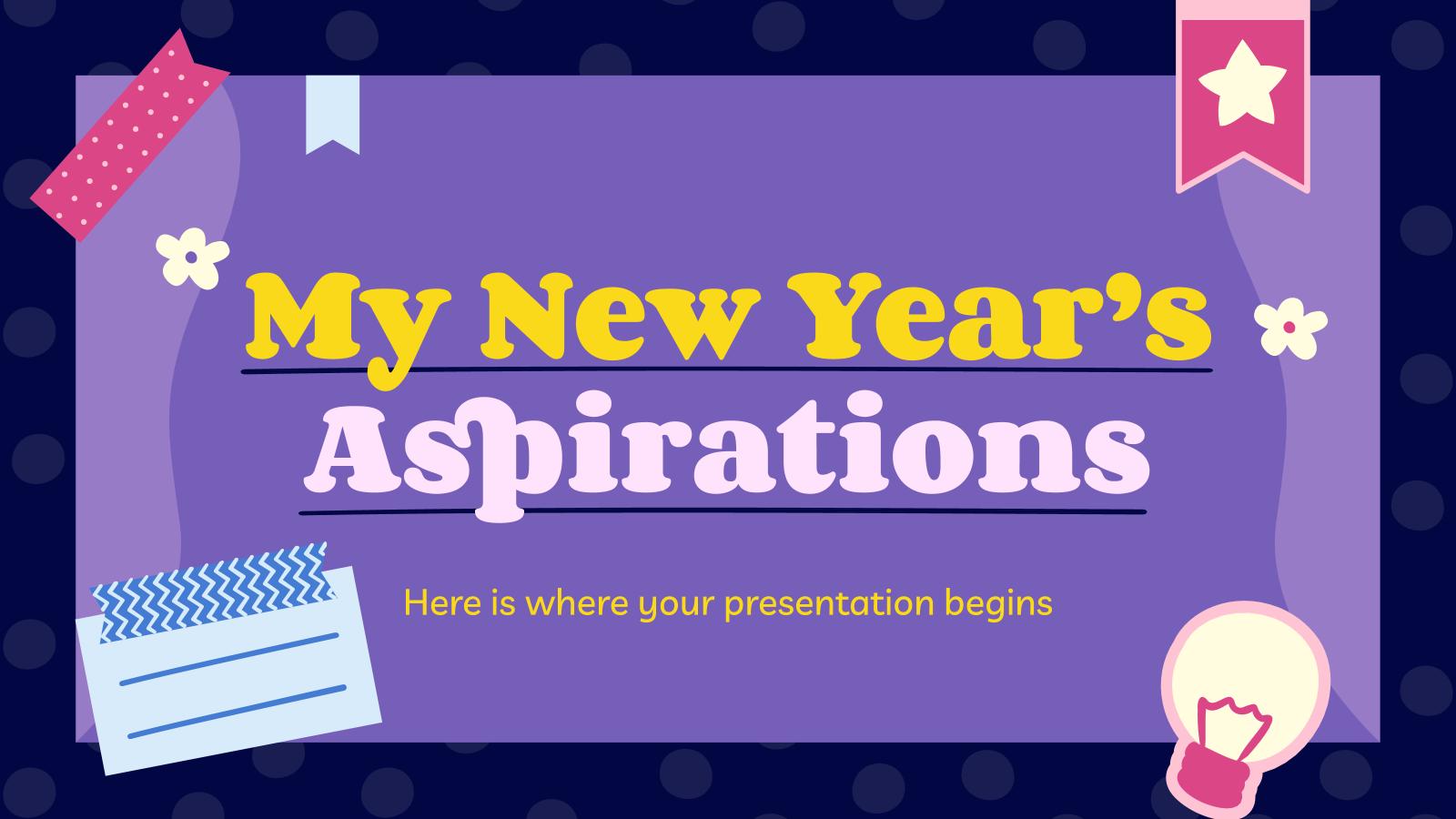 Plantilla de presentación Aspiraciones de Año Nuevo