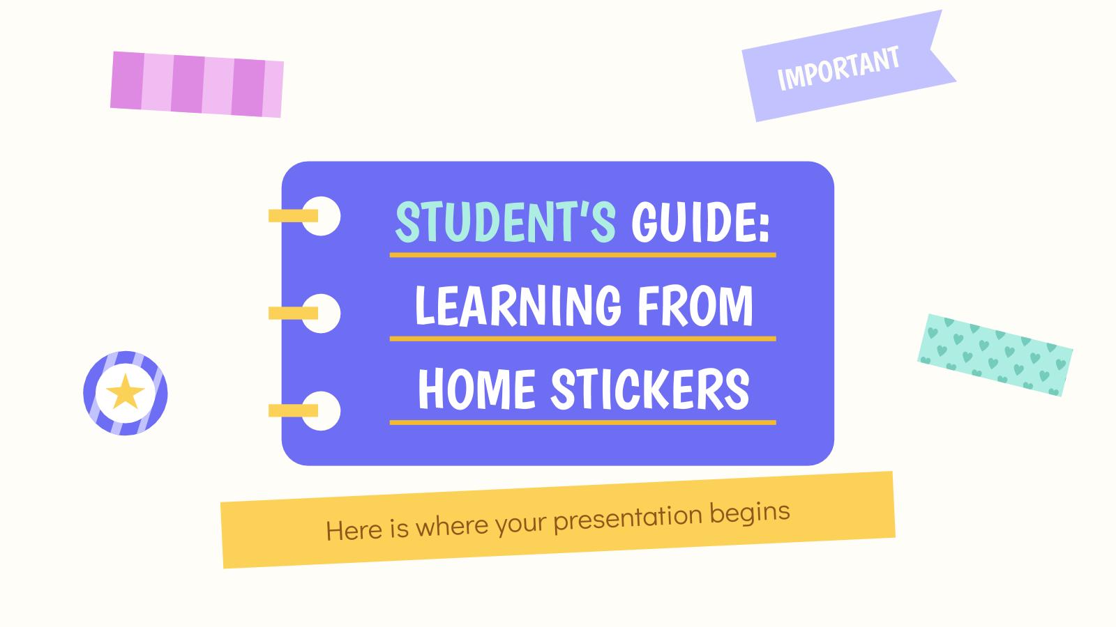 Guide de l'étudiant : Apprendre à la maison : Modèles de présentation