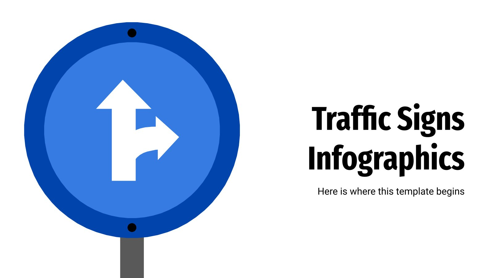 Traffic Signs Infographics presentation template