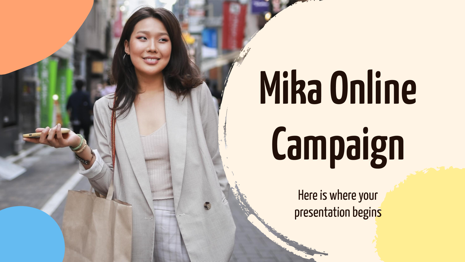 Mika Online Campaign presentation template