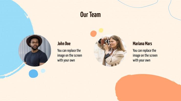 Campagne en ligne Mika : Modèles de présentation