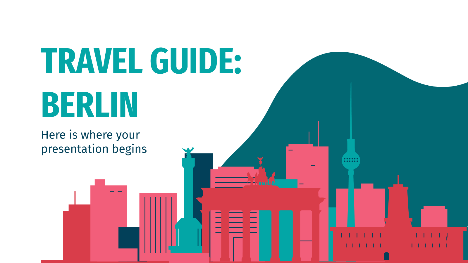 Travel Guide: Berlin presentation template