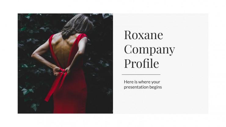Plantilla de presentación Perfil de empresa Roxane
