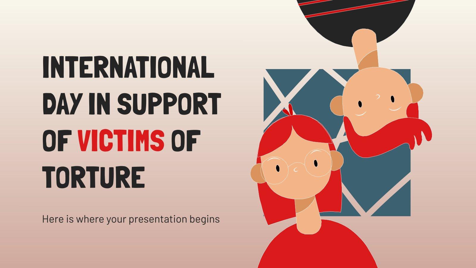 Modelo de apresentação Dia Internacional de Apoio às Vítimas de Tortura