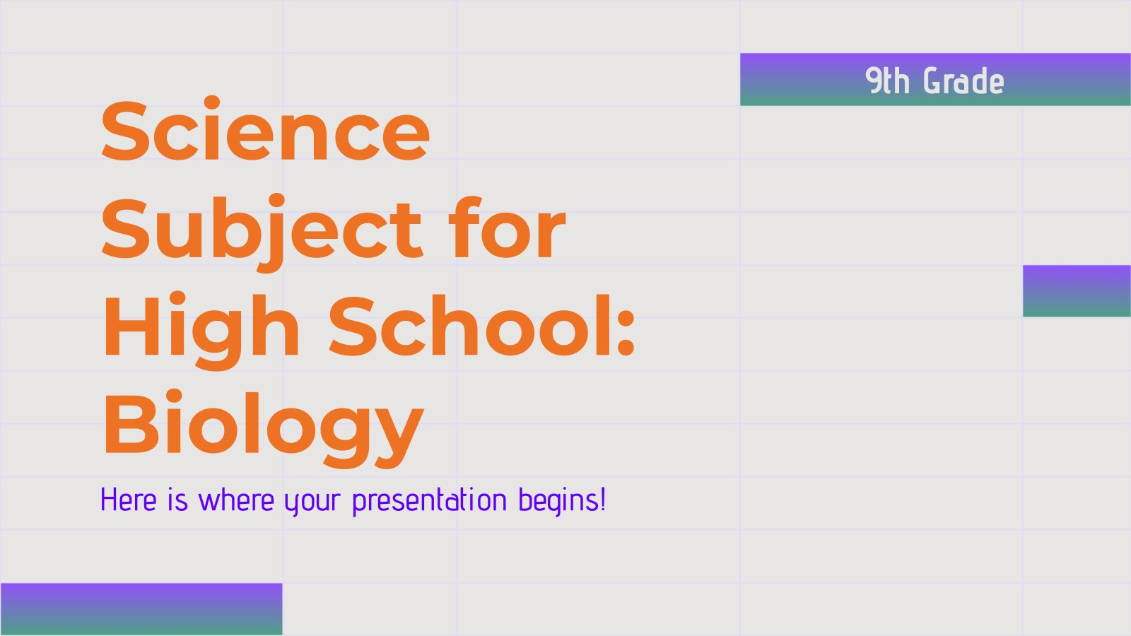Naturwissenschaft für die 9. Klasse: Biologie Präsentationsvorlage