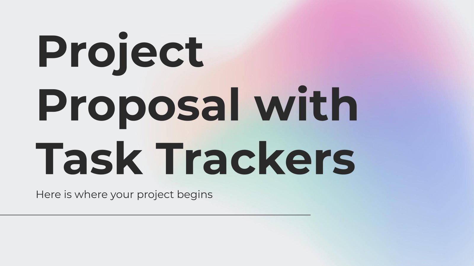 Projektvorschlag mit Task Tracker Präsentationsvorlage