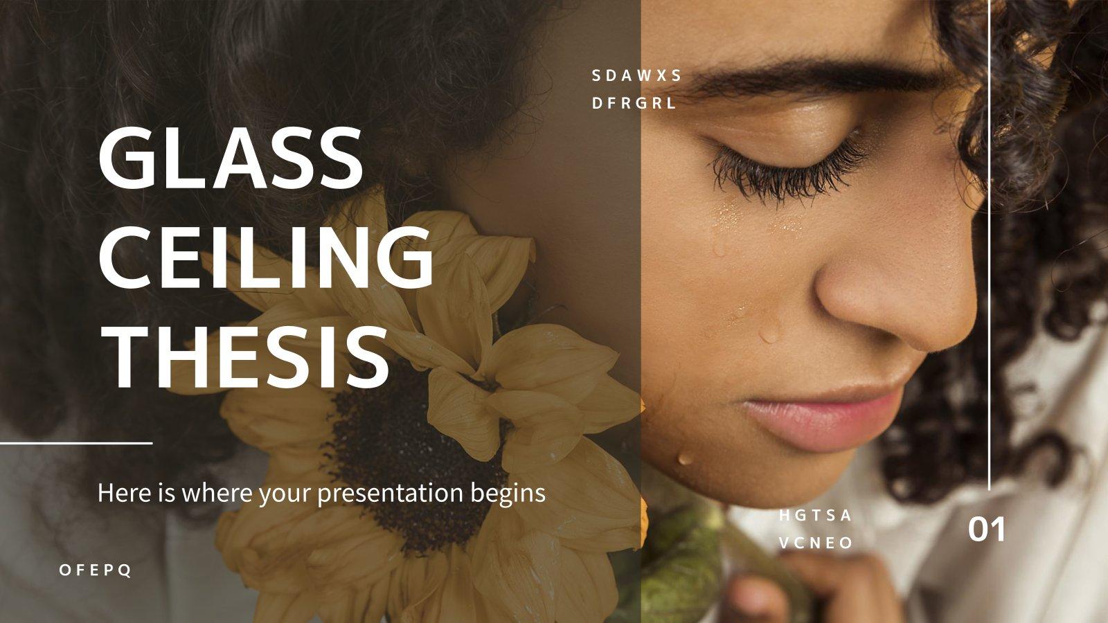 Modelo de apresentação Tese sobre o teto de vidro