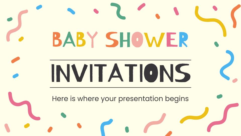 Baby Shower Invitations presentation template