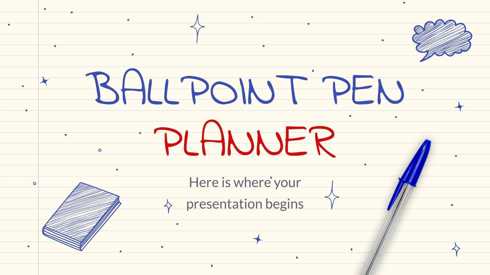Ballpoint Pen Planner presentation template