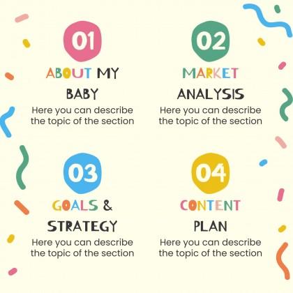 Modelo de apresentação Convites para o chá de bebé