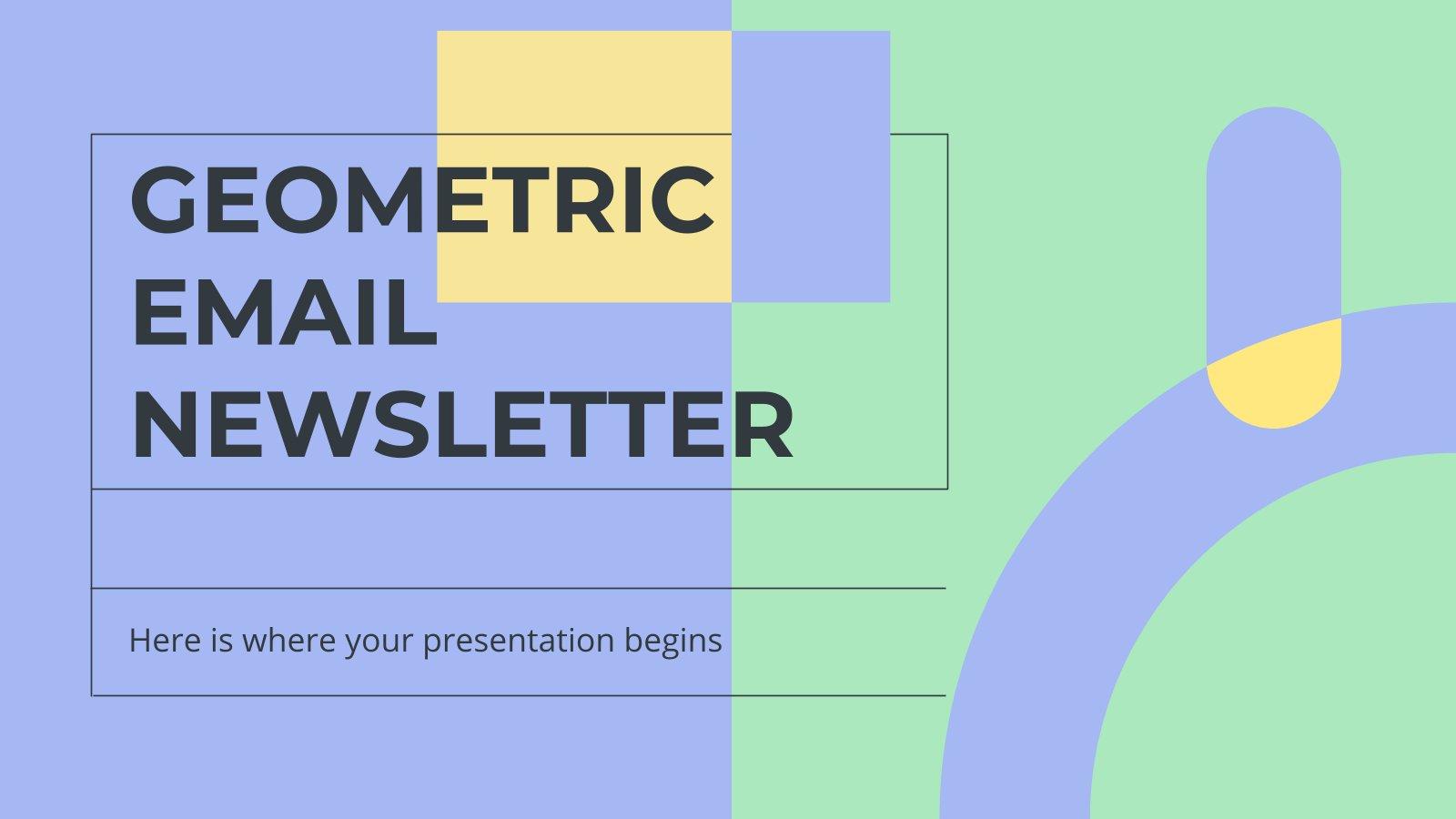 Modelo de apresentação Boletim geométrico por e-mail