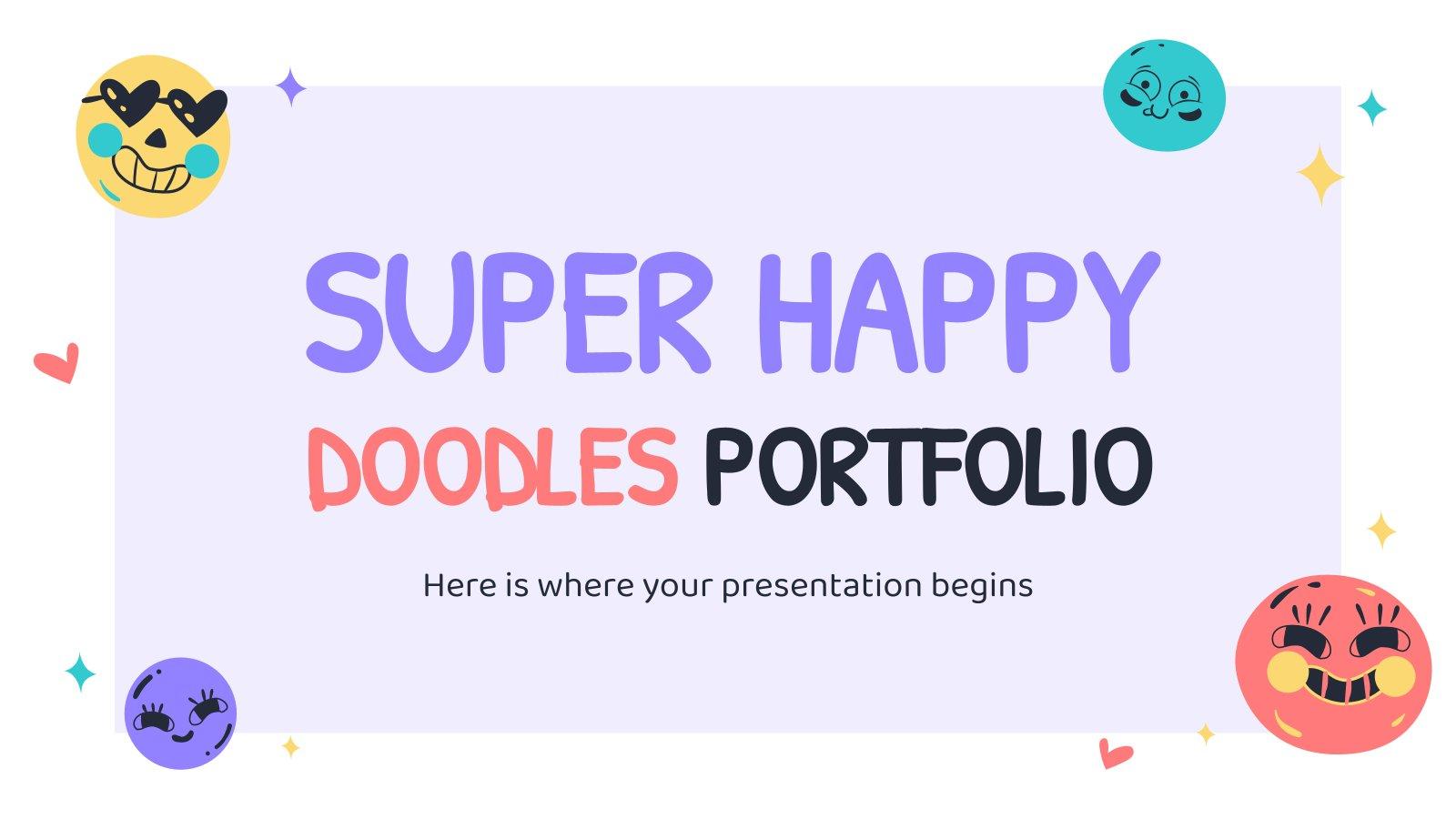 Super Happy Doodles Portfolio presentation template