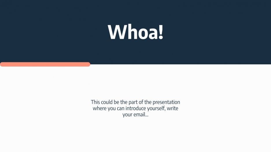 Modern Annual Report presentation template