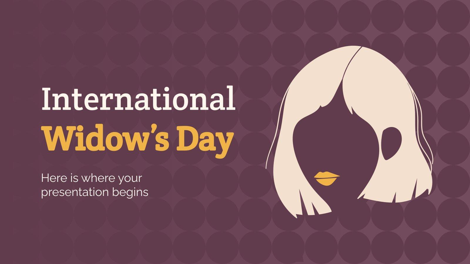Internationale Tag der Witwen Präsentationsvorlage