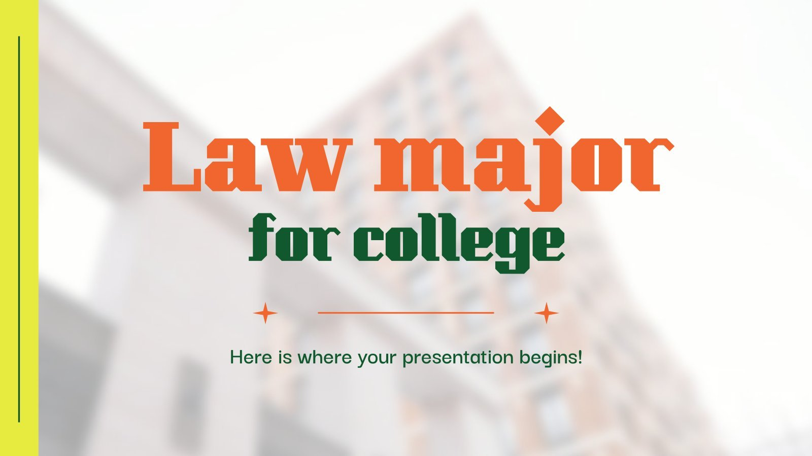 Law Major for College presentation template