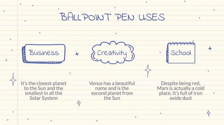 Modelo de apresentação Planejador de caneta esferográfica