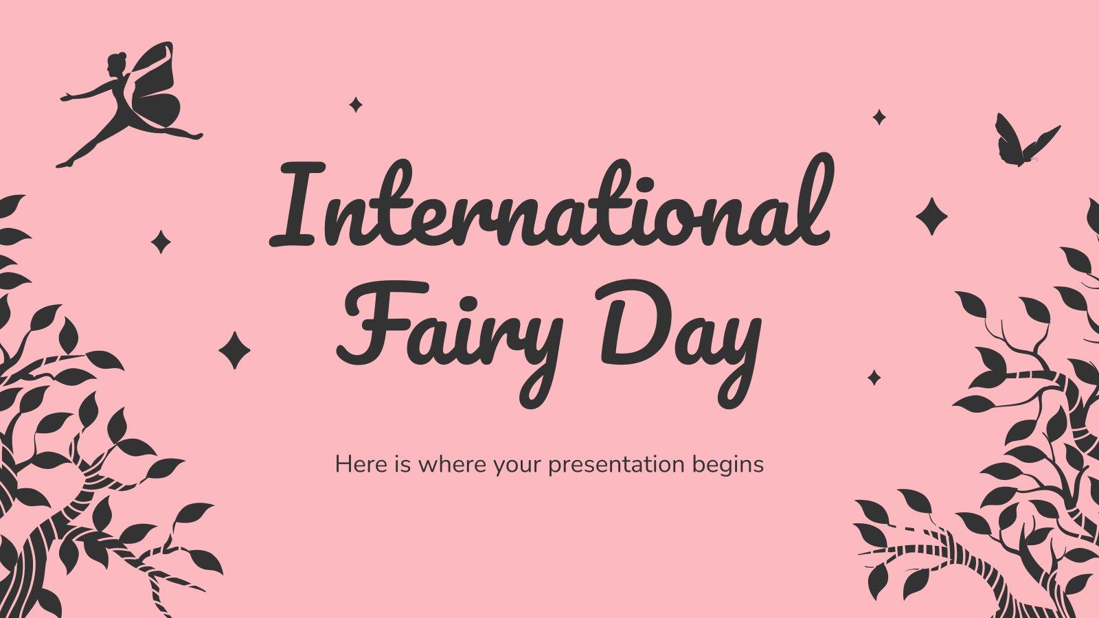 Internationaler Feen-Tag Präsentationsvorlage
