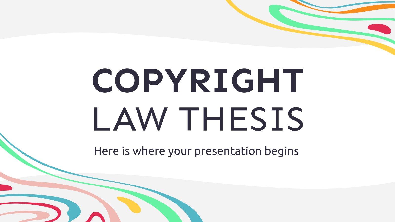 Thèse sur le droit d'auteur : Modèles de présentation