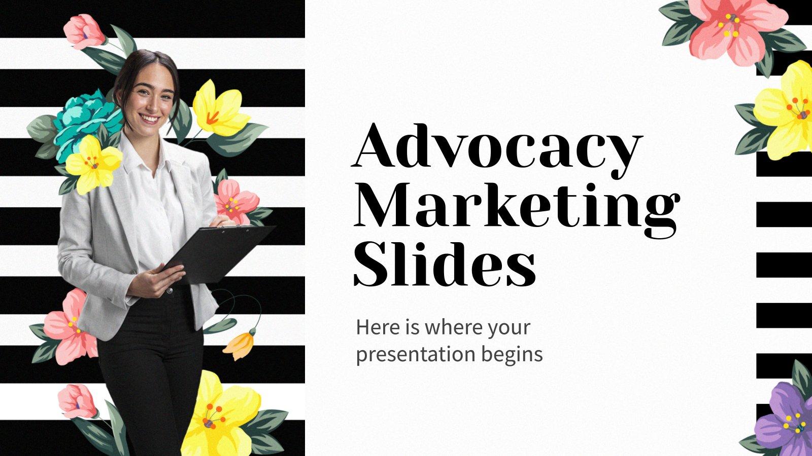 Advocacy Marketing Folien Präsentationsvorlage