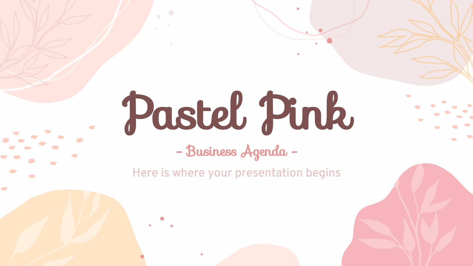 Agenda d'affaires rose pastel : Modèles de présentation