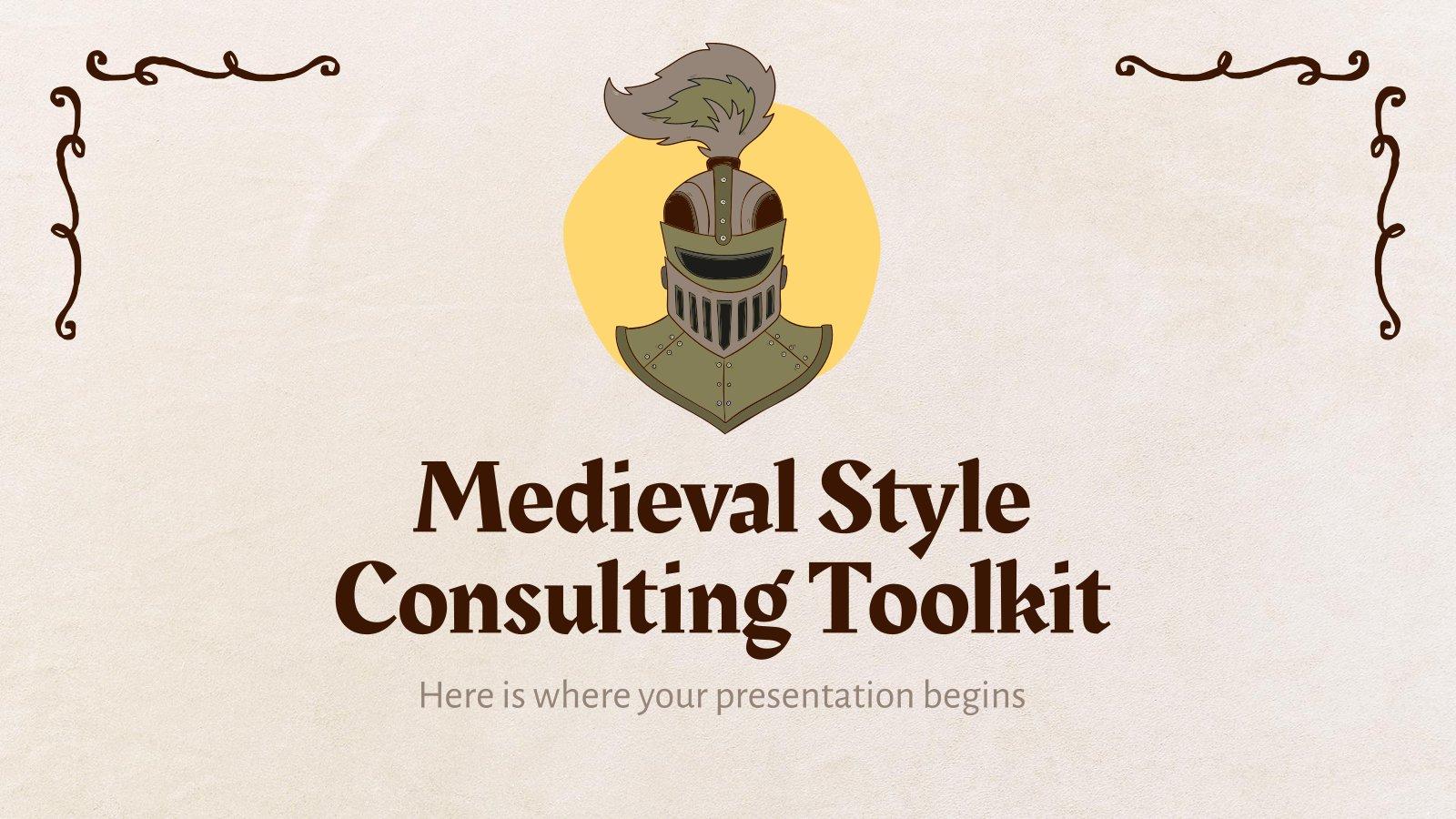 Mittelalterlicher Stil Beratung Toolkit Präsentationsvorlage